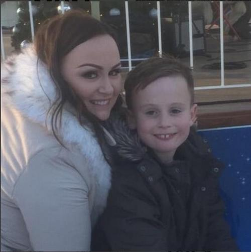 Busy: Chanelle is also mum to 7-year-old Blakely with Middlesbrough player Matthew Bates