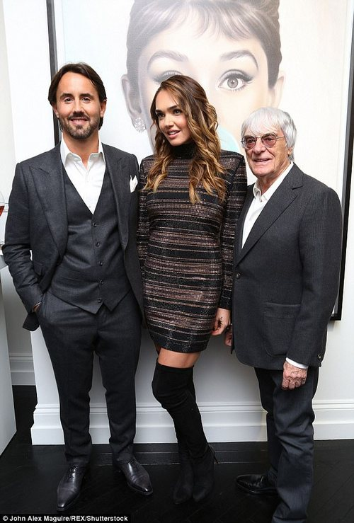 Three's company:Tamara and Jay spent seven million on their wedding, which saw them say I do in front of 150 guests at the Riviera's most luxurious hotel (pictured with Bernie in 2017)