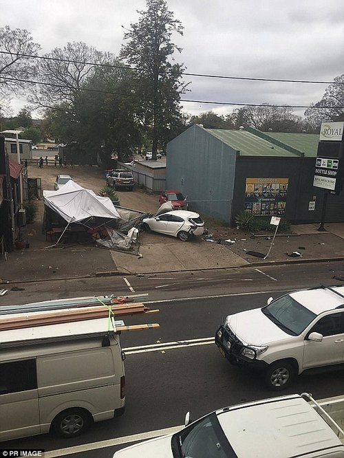 Four people have been injured and two are in a critical condition, including a 67-year-old man