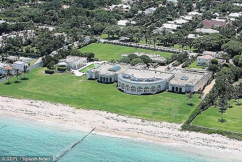The oligarch is also believed to have links to President Donald Trump, after his yacht was seen anchored near one of Trump's in the British Virgin Islands earlier this year. In 2008, the oligarch bought a home in Palm Beach, Florida (pictured) from Trump