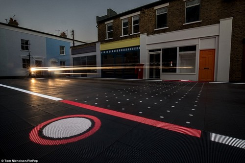 A 22-metre long stretch of Smart Crossing road was setup in a secret location in London to showcase the technology