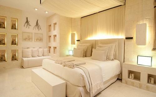 Borgo Egnazia has 184 rooms: 63 (including seven suites) in La Corte, the fort-like main building; 92 bedrooms in the Borgo, or village, and 29 villas