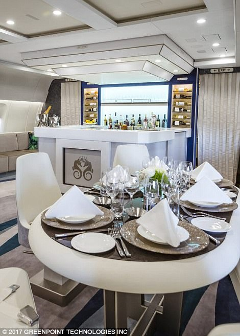 A well-stocked bar and Michelin-inspired menus ensure passengers dine in luxury