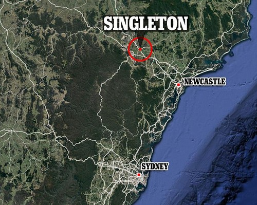 The accident took place in country town of Singleton, about 200km north of Sydney