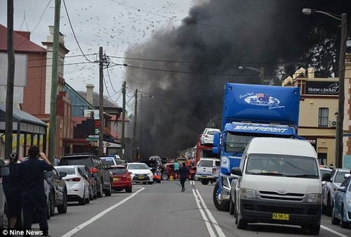 NSW Police told Daily Mail Australia the accident occurred on George Street at Singleton