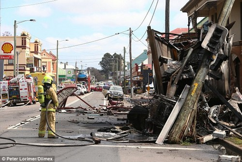 A rouge driver had stolen the truck just moments earlier from a petrol station while the original driver of the truck was paying for petrol before causing carnage on Singleton, north of Sydney