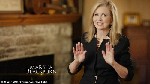 Tennessee Rep. Marsha Blackburn is running for an open U.S. Senate seat, and Twitter has banned her campaign from promoting her launch video