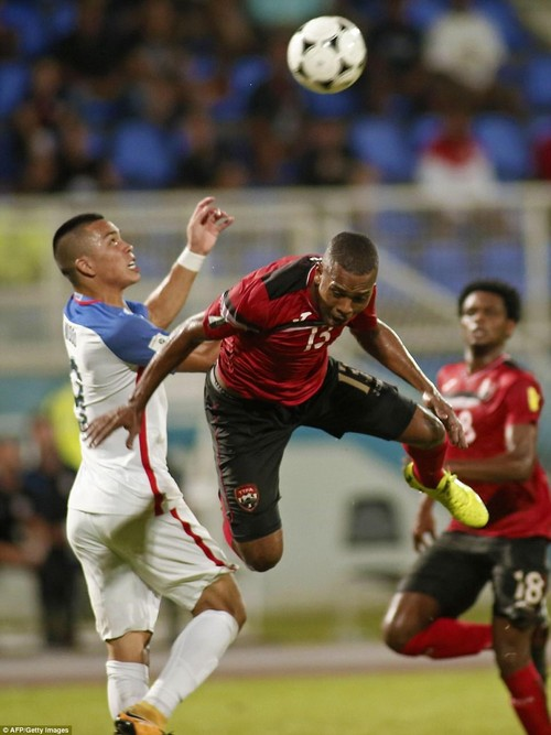 Trinidad and Tobago's Curtis Gonzales during the 2018 World Cup qualifier football match against the US in Couva, Trinidad and Tobago, on October 10, 2017