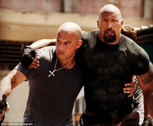 Lean on me: Vin Diesel, 50, took to Instagram on Saturday to address the heated feud between Dwayne 'The Rock' Johnson, 45, and Tyrese Gibson, 38