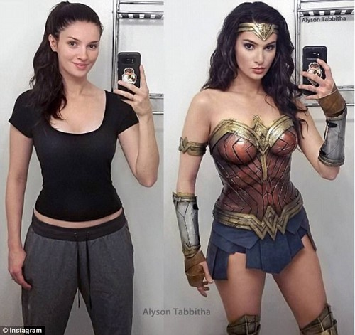 Amazing: YouTuber Alyson Tabbitha dyed and cut her long red hair to transform herself in Wonder Woman