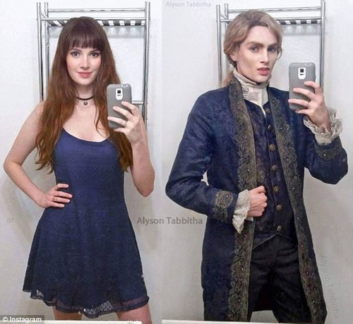 Master of disguise: The natural redhead has a talent for cosplay, and she once transformed herself into Lestat de Lioncourt, Tom Cruise's character in Interview with the Vampire
