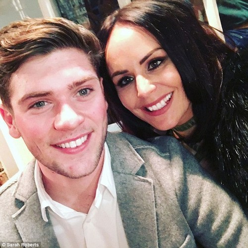 Cancer battle: Sarah Roberts, pictured with fiance Jake Dixon, was diagnosed with breast cancer in August. She has spoken about how she fears chemotherapy will leave her infertile