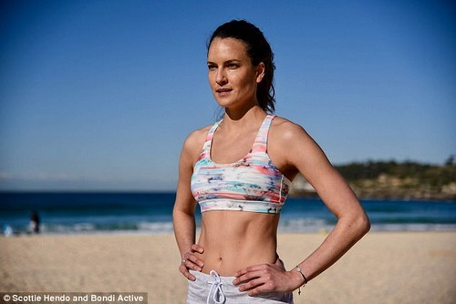 Ms Haining (pictured) - who has worked with the likes of David Beckham and Jessica Gomes in the past - shared her tips for getting fit in just seven days