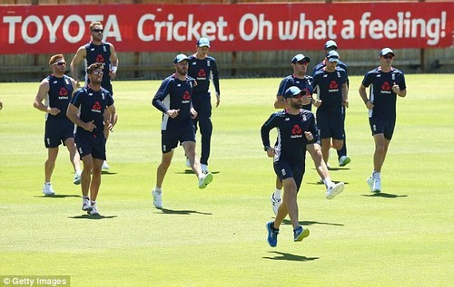 It was a light training session for Joe Root's team as they shook off the jet lag