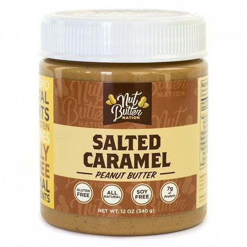 Food scientists say this is because its near-addictive mix of sugar, fat and salt flavours presses all of the craving 'want-more' buttons in our subconscious brains. Pictured: salted caramel peanut butter