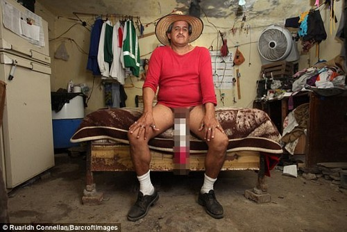 Roberto Esquivel Cabrera is registered disabled and receives handouts from the Mexican government because his 18.9inch manhood stops him from working