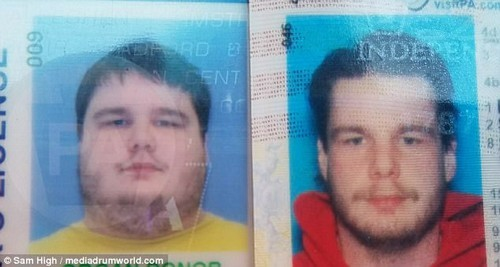 Sam's driving license photos show his drastically different appearance since losing weight. He said: 'For anyone thinking about having the surgery, I'd suggest doing as much research as possible, talk to people who have had the procedure and make sure it's definitely what you want to do'