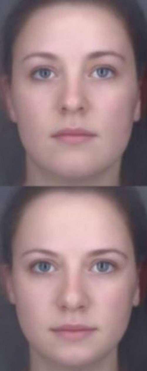 The above slimmer face also suggests a lower percentage body fat, supporting wellbeing
