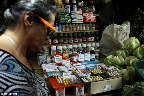 The flourishing black market is compensating for the 85 percent shortage in drugs