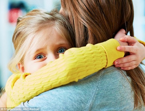 With an unprecedented number of children experiencing anxiety, parents are tempted to assuage their fears, by psychologists warn that this does more harm than good (file image)