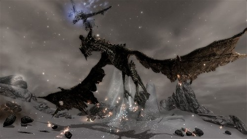 Alduin from ES V: Skyrim - he's got quite a mouth on him