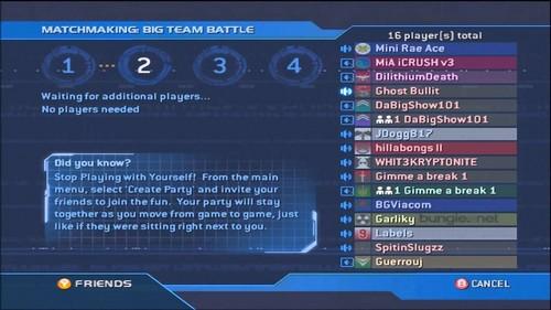 Halo 2 matchmaking lobby
