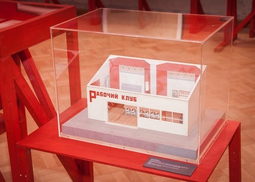 Rodchenko's model of a Worker's Club, one of the new types of buildings avant-garde architects designed.