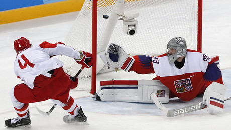 1st time in 20 years: Russian hockey players advance to Olympics finals after beating Czechs 3-0