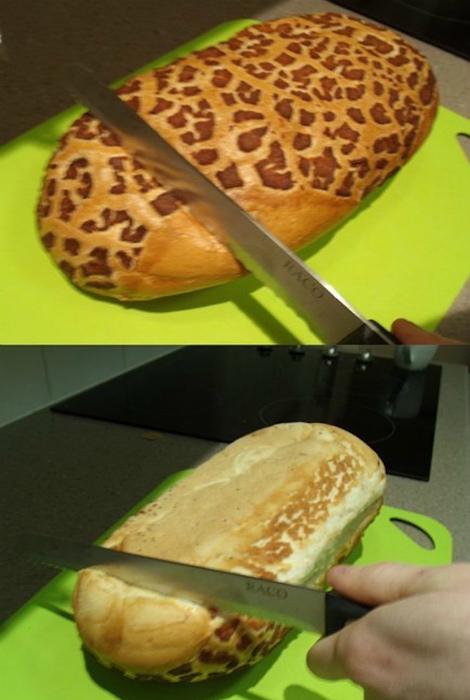 Порезать свежий хлеб.