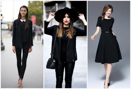Черные цвета в одежде.