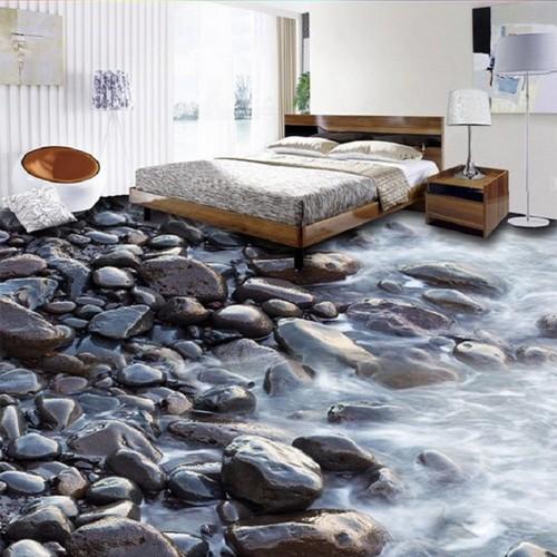 Изумительный пол с 3D эффектом, который преобразит интерьер спальной комнаты.