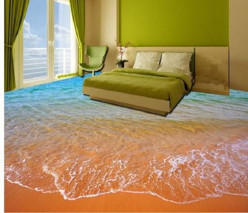 Пляжная тематика в спальной комнате.