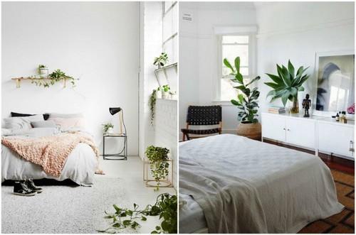 Цветы в интерьере спальни станут прекрасным дополнением.