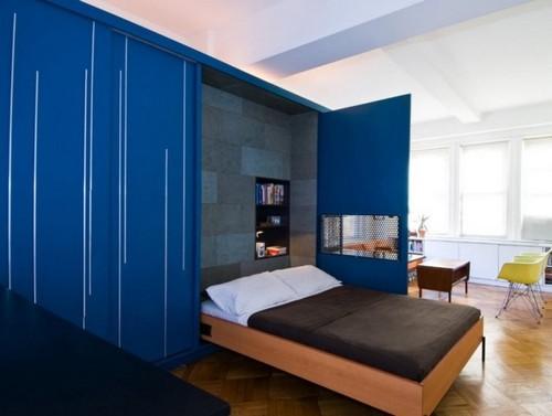 Конструкция такой кровати предполагает её хранение в вертикальном положении либо изголовьем вниз, либо на боку.