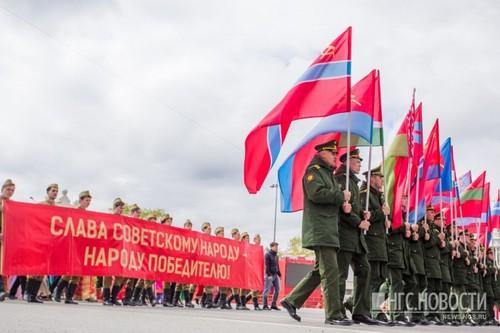 На фото парад ,который проходил в прошлом году. Фото Ольги Бурлаковой