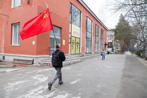 В Академгородке прошла своя небольшая традиционная демонстрация