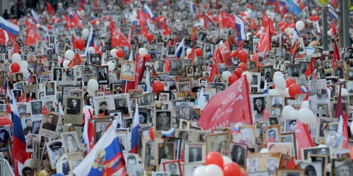 Millions of people commemorate the relatives they lost in the war.