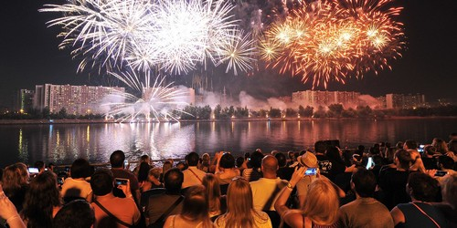 Find a good viewing spot for the fireworks display.