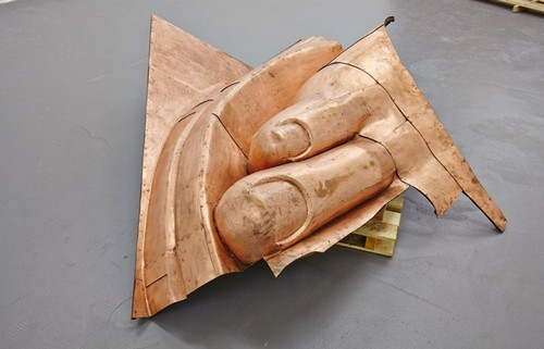 We The People (detail), 2011, by Danh Vo. KADIST collection.