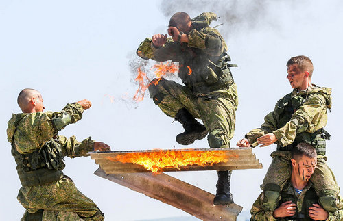 Russia's Airborne Troops are renowned for their rigour and discipline.