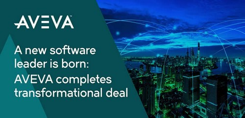 AVEVA Schneider Electric industrial software merger completion