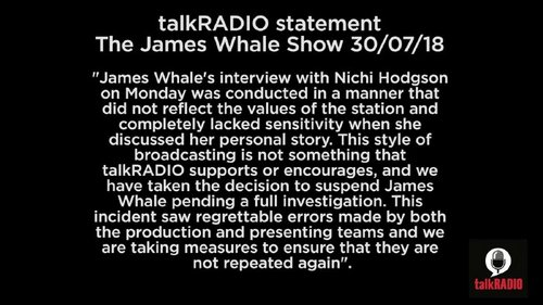 TalkRadio's James Whale suspended over rape victim interview