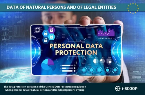 The data protection grey zone of the GDPR when personal data of natural persons and from legal entities overlap