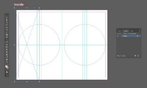 A Beginner's Guide to Creating Gate Fold Flyers in Adobe InDesign — Rectangle Frame Tool