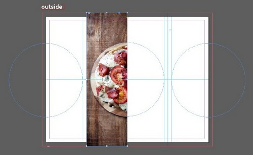 A Beginner's Guide to Creating Gate Fold Flyers in Adobe InDesign — Repeat with Rectangle Frame Tool
