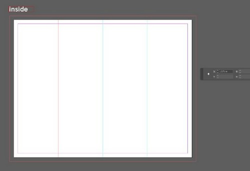 A Beginner's Guide to Creating Gate Fold Flyers in Adobe InDesign — Inner Fold Lines