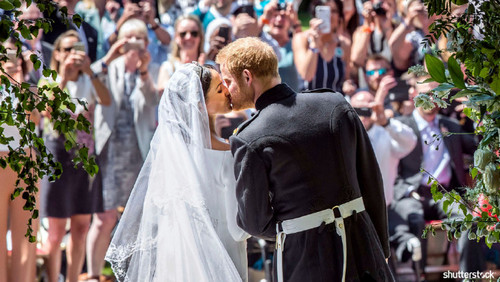 Prince Harry and Meghan Markle: The Year in Review — Wedding Kiss