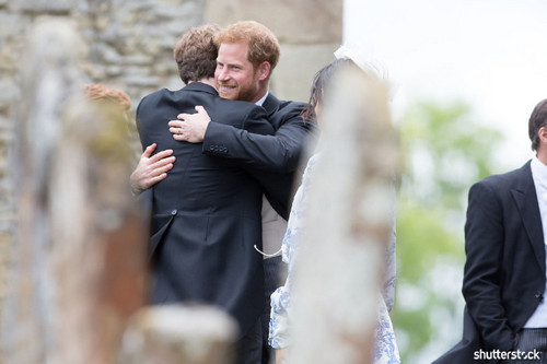 Prince Harry and Meghan Markle: The Year in Review — Hugging at the Wedding of Celia