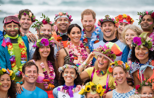 Prince Harry and Meghan Markle: The Year in Review — Colorful Group Photos