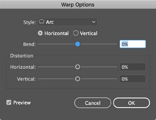 The 5 Best Illustrator Warp Effects to Transform Your Typography — Warp Options